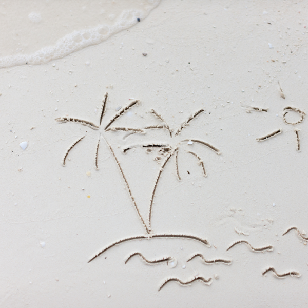 Sand mit Palme